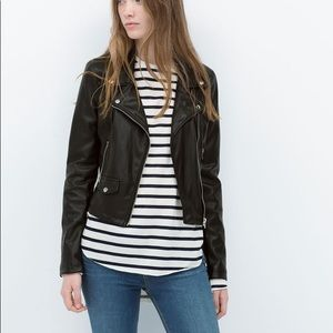 Zara | Trafaluc Vegan Leather Moto Jacket
